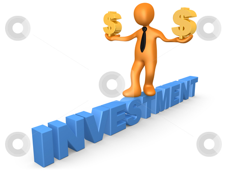 Investment In Dollar stock photo, Computer Generated Image - Investment In Dollar. by Konstantinos Kokkinis