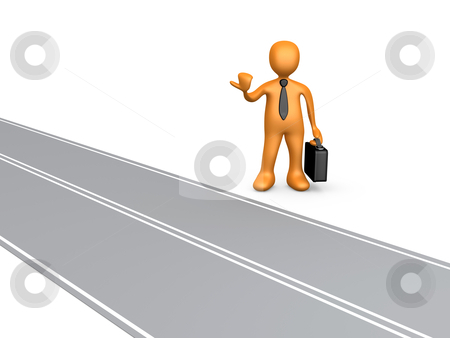 Road To Success stock photo, Computer Generated Image - Road To Success. by Konstantinos Kokkinis