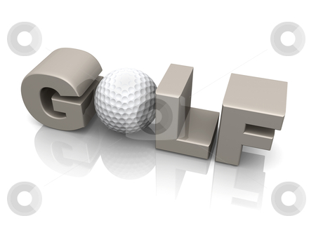 Golf stock photo, Computer Generated 3D Image - Golf . by Konstantinos Kokkinis