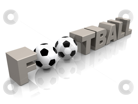 Football stock photo, Computer Generated 3D Image - Football . by Konstantinos Kokkinis