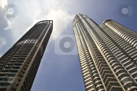 Modern skyscraper buildings in Malaysia stock photo, Beautiful modern skyscraper buildings in Malaysia by Ingvar Bjork