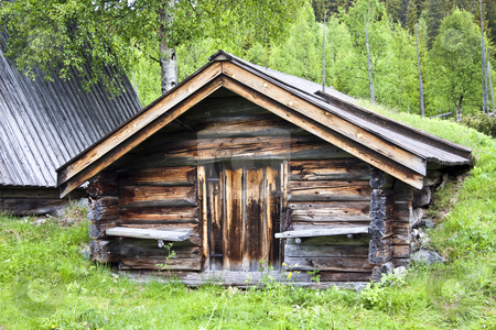 Old traditional wooden cabin in Sweden  stock photo, Old traditional wooden cabin in Sweden  by Ingvar Bjork