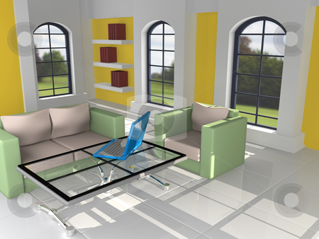 Home Interior stock photo, Computer Generated Image - Home Interior . by Konstantinos Kokkinis