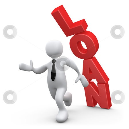 Loan stock photo, Computer Generated 3D Image - Loan . by Konstantinos Kokkinis