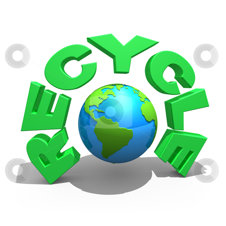 Recycle stock photo, Computer Generated 3D Images - Recycle . by Konstantinos Kokkinis
