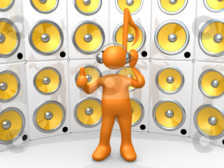 Loud Music stock photo, Computer Generated Image - Loud Music . by Konstantinos Kokkinis