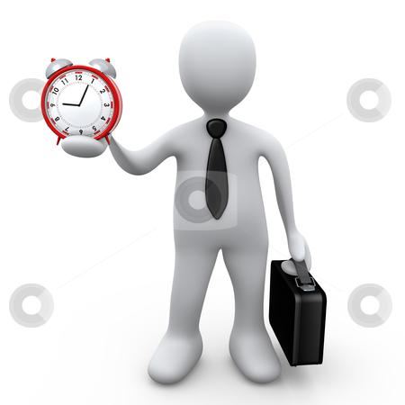 Businessman Holding A Clock stock photo, Computer Generated Image - Businessman Holding A Clock . by Konstantinos Kokkinis