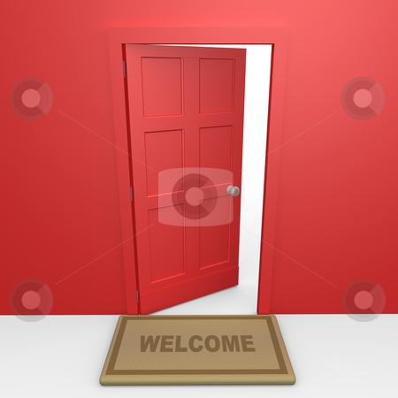 Red Door stock photo, Computer Generated Image - Red Door . by Konstantinos Kokkinis