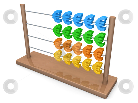 Euro Abacus stock photo, Computer Generated Image - Euro Abacus . by Konstantinos Kokkinis