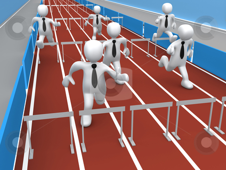 Business Competition stock photo, Computer Generated Image - Business Competition . by Konstantinos Kokkinis
