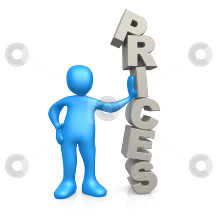 Prices stock photo, Computer Generated 3d Image - Prices . by Konstantinos Kokkinis