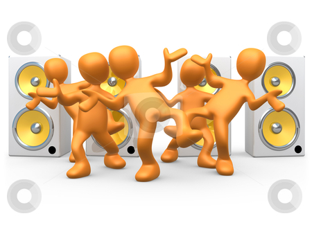 Dance To The Music stock photo, Computer Generated Image - Dance To The Music . by Konstantinos Kokkinis