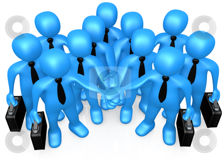 Business Team stock photo, Computer Generated Image - Business Team . by Konstantinos Kokkinis