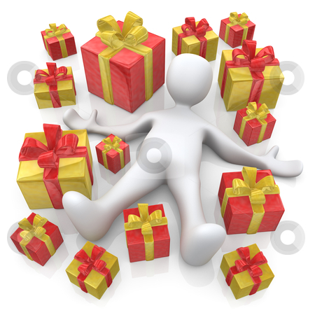 Lots Of Presents stock photo, Computer Generated Image - Lots Of Presents . by Konstantinos Kokkinis