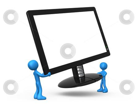 New Monitor stock photo, Computer Generated Image - New Monitor . by Konstantinos Kokkinis