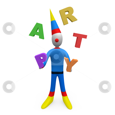 """Party Juggler stock photo, Person Juggling with the letter of the word """"party"""" . by Konstantinos Kokkinis"""
