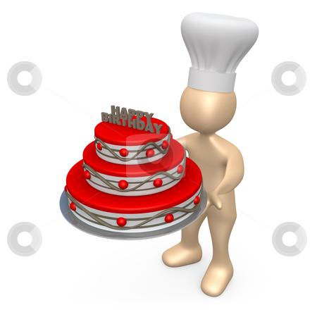 Birthday Cake stock photo, Computer Generated Image - Birthday Cake. by Konstantinos Kokkinis