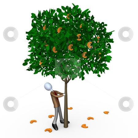 Euro Tree stock photo, Computer generated image - Euro Tree . by Konstantinos Kokkinis