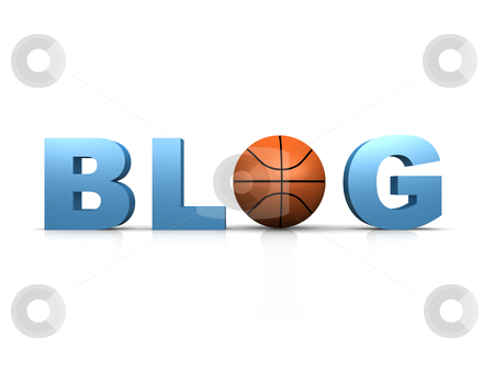 Basketball Blog stock photo, Computer generated image - Basketball Blog . by Konstantinos Kokkinis