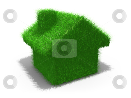 Green House stock photo, Computer generated image - Green House . by Konstantinos Kokkinis
