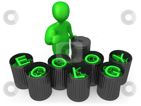 Ecology stock photo, Computer generated 3d image - Ecology . by Konstantinos Kokkinis