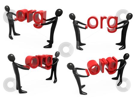 Dot Org stock photo, Computer generated image - Dot Org . by Konstantinos Kokkinis