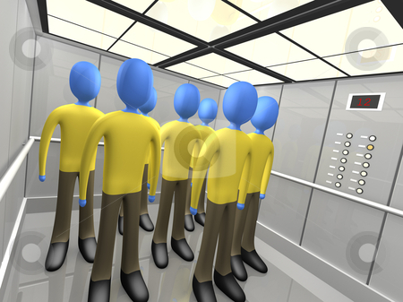 Elevator stock photo, Computer generated 3d image - Elevator . by Konstantinos Kokkinis