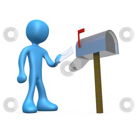 Mailbox stock photo, Computer generated 3d image - Mailbox. by Konstantinos Kokkinis