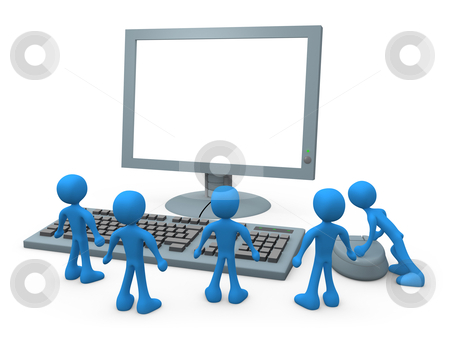 Computer Guys stock photo, Computer generated image - Computer Guys. by Konstantinos Kokkinis