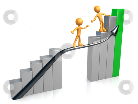 Guide For Success stock photo, Computer generated image - Guide For Success. by Konstantinos Kokkinis