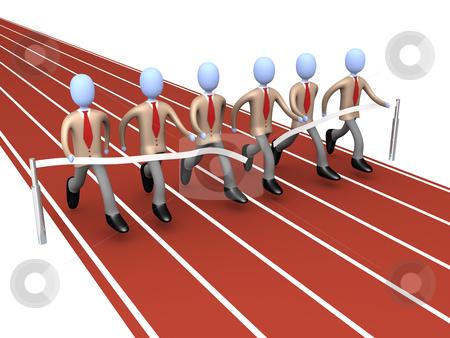 Team Winning stock photo, Metaphor of how teamwork brings success . by Konstantinos Kokkinis