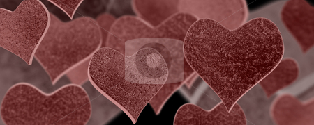 Abstract Hearts stock photo, Computer generated image - Abstract Hearts . by Konstantinos Kokkinis
