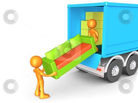 Moving Company stock photo, Computer generated image - Moving Company . by Konstantinos Kokkinis