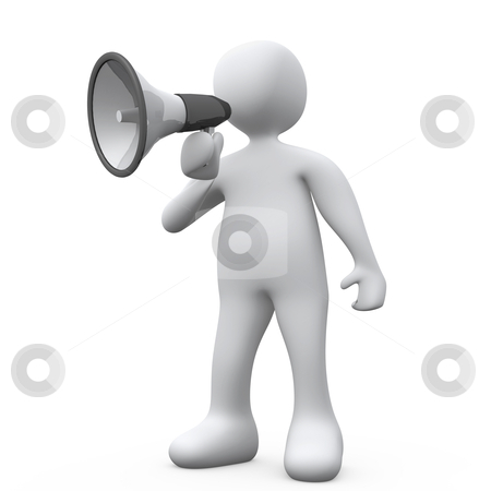 Megaphone stock photo, Computer generated 3d image - Megaphone . by Konstantinos Kokkinis