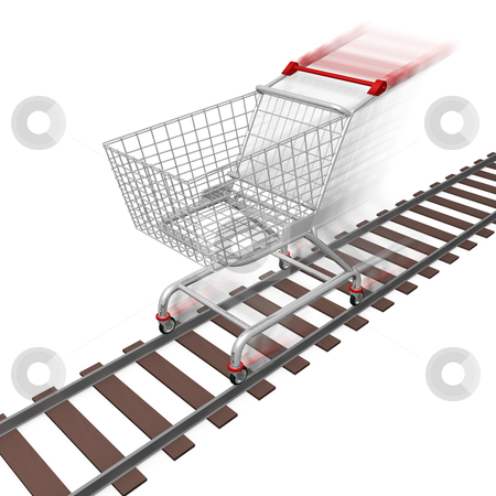 Quick Shopping stock photo, Computer generated image - Quick Shopping . by Konstantinos Kokkinis