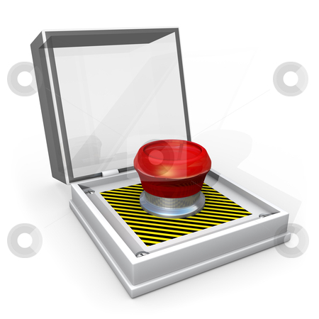 Panic Button stock photo, Computer generated image - Panic Button . by Konstantinos Kokkinis