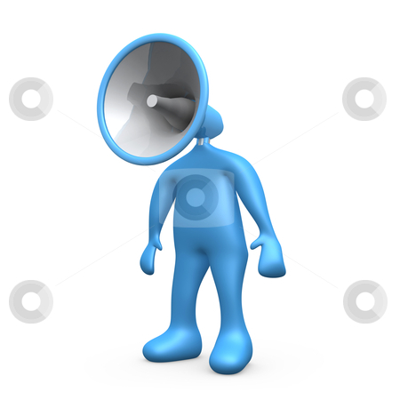 Megaphone Person stock photo, Computer generated image - Megaphone Person . by Konstantinos Kokkinis