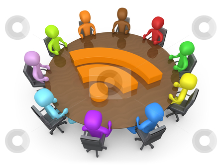 Community Discussion stock photo, Computer generated image - Community Discussion . by Konstantinos Kokkinis