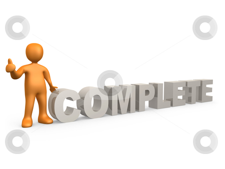Complete stock photo, Computer generated 3d image - Complete . by Konstantinos Kokkinis