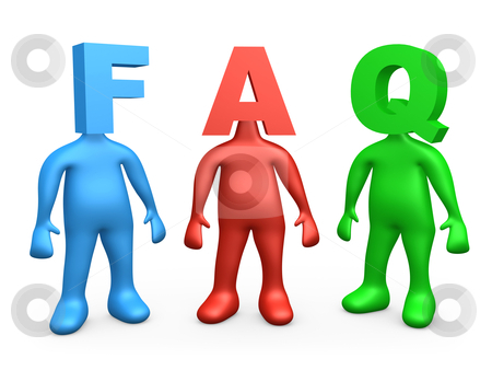 FAQ stock photo, Computer generated image - Frequently Asked Questions. by Konstantinos Kokkinis