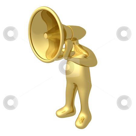 Megaphone Person stock photo, Computer generated image - Megaphone Person by Konstantinos Kokkinis