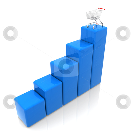 Sales Chart stock photo, Computer generated image - Sales Chart . by Konstantinos Kokkinis