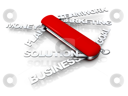 Business Swiss Knife stock photo, Computer generated image - Business Swiss Knife. by Konstantinos Kokkinis