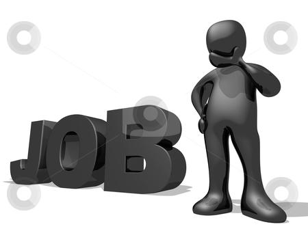 Job Seeking stock photo, Computer generated image - Job Seeking . by Konstantinos Kokkinis