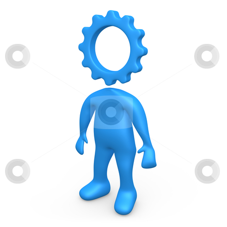 Cog Person stock photo, Computer generated image - Cog Person . by Konstantinos Kokkinis