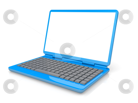 Laptop stock photo, Computer Generated 3D Image - Laptop . by Konstantinos Kokkinis