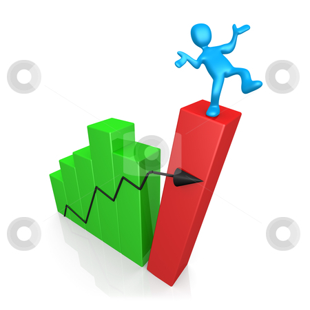 Risk In Business stock photo, Computer Generated Image - Risk In Business . by Konstantinos Kokkinis