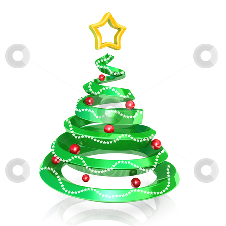 Christmas Tree stock photo, Computer generated image - Christmas Tree . by Konstantinos Kokkinis