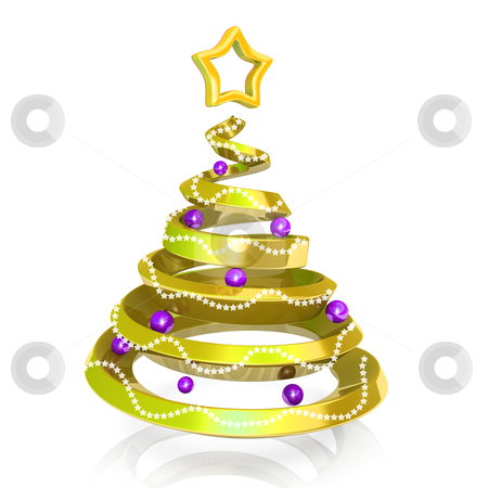 Christmas Tree stock photo, Computer generated image - Christmas Tree. by Konstantinos Kokkinis