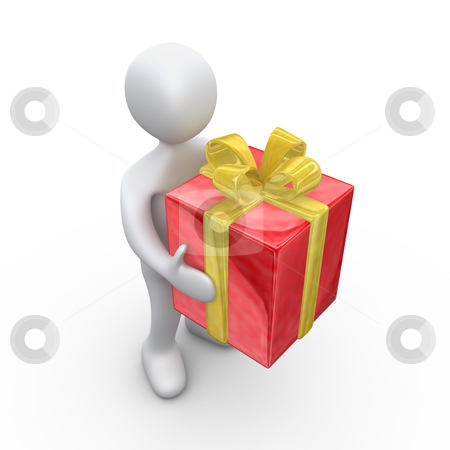 Big Present stock photo, Computer Generated Image - Big Present . by Konstantinos Kokkinis